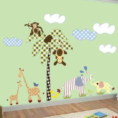 BIGJungle FriendsVinyl Wall Art Decals by wallartdesign on Etsy, $150.00