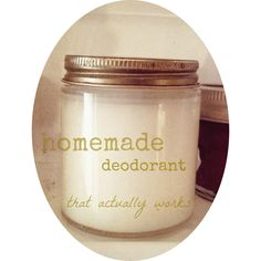 homemade deodorant {that actually works}---We'll be the judge of that!!!