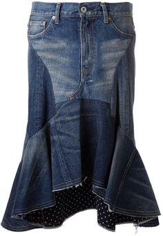 Junya Watanabe Blue Junya Watanabe Five Pocket Jean