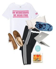 Ootd by annahbirch ❤ liked on Polyvore featuring interior, interiors, interior design, home, home decor, interior decorating, Victorias Secret PINK, adidas, UGG Australia and Splendorest