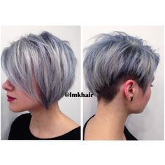 Image result for silver short hair frosted colour