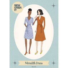 Meredith Dress Sewing Pattern - Sew Over It Baby Dress Patterns, Dress Making Patterns, Dresses For Teens, Modest Dresses, Clothing Patterns, Sewing Patterns, Floral Bridesmaid Dresses, Sew Over It, Sewing Clothes