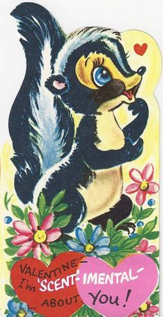 Flower the Skunk Valentine
