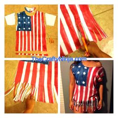 diy american flag shirt.  For talent ice ice baby. Have shirt. Use tape to make lines straight. Use spray paint. Make it look kinda older. Wear with maroon parachute pants
