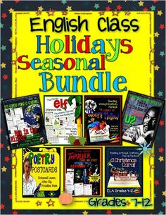 English Class Holidays / Seasonal Bundle, Grades 7-12: Lessons, Activities --7 products in one pack! ($)
