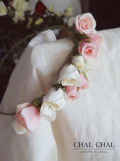 #Corona de novia   #CHAL-CHAL #chalchalflores