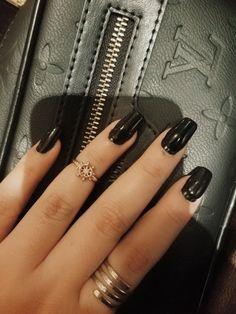Nails #uñas #black negro #nuncapasademoda