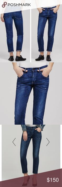 """Citizens of Humanity • Vintage Emerson boyfriend COH Premium Vintage Emerson slim boyfriend. Size 27. Like new. No flaws. Sold out online. Inseam 27"""", waist 15"""", hips 18"""". Retail $288. Anthropologie brand . Citizens Of Humanity Jeans Boyfriend"""