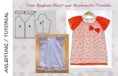 Anleitung: Vom Raglan-Shirt zur Bauwoll-Tunika