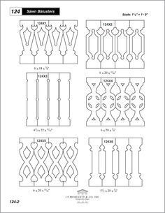 victorian sawn balusters | 11 Victorian Flat Baluster Vector ...