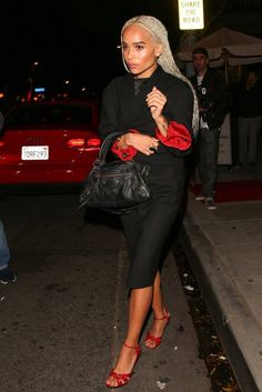 Zoe Kravitz Arrives at Drake's 30th Birthday Party at Delilah Restaurant in West Hollywood 10/24/2016-1