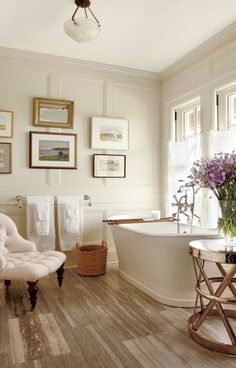 Find home décor inspiration at Architectural Digest. Everything you'll need to design each and every room in your house, from the kitchen to the master suite. Sleeping Porch, Beautiful Bathrooms, Serene Bathroom, Luxurious Bathrooms, White Bathroom, Neutral Bathroom, Marble Bathrooms, Tile Bathrooms, Relaxing Bathroom