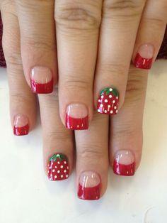 Strawberry nails!