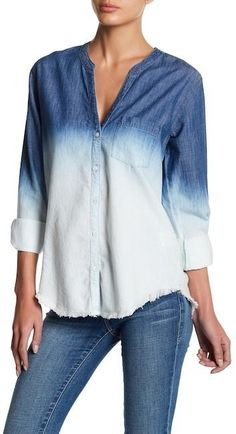 Soft Joie Normana Frayed Ombre Shirt