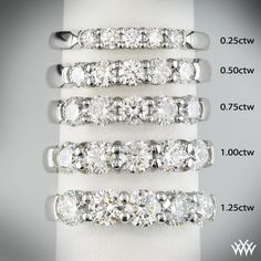 0.25 CTW - 2.2mm wide 0.5 CTW - 3mm wide (E-ring - 2.35mm diamond/~2.5mm ring)