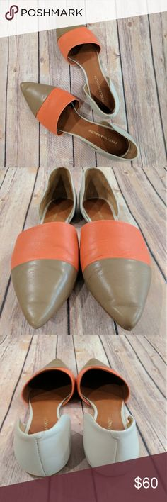 Rebecca Minkoff leather flat shoes Only wear few times with excellent condition. No major scuffs. Leather flats from Rebecca Minkoff. Size 10M. Beatiful flats to wear and ready for summer! Rebecca Minkoff Shoes Flats & Loafers
