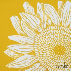Image result for lino printing sunflower