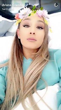 Ariana Grande via Snapchat ♡   @heyitsgrell