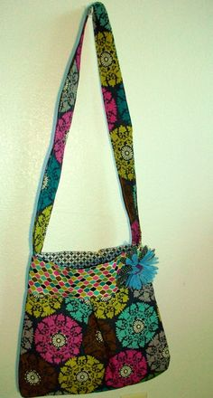 Adorable Crossbody Hobo Bag with inside pocket and magnetic clasp. $25.00, via Etsy.