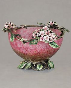 Hydrangea Bowl by Jay Strongwater at Neiman Marcus.