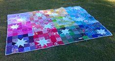 Reverse Rainbow Starburst finished   mummastimetocreate.blog…   Flickr Star Quilt Patterns, Star Quilts, Scrappy Quilts, Quilt Blocks, Baby Quilts, Quilting Tutorials, Quilting Projects, Quilting Ideas, Craft Tutorials