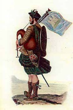Highland Piper at the Battle of Falkirk