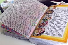 I absolutely love that view on food the creator of this lovely journal page found... I shouldn't live it though... At least not every day :)