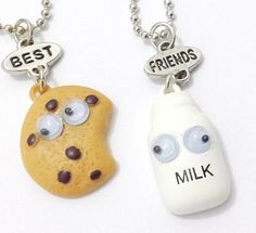 Milk and Cookies Pendant BFF Friendship Chain Necklaces