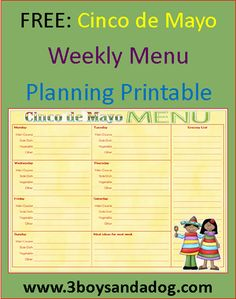 Menu Plan Monday: Free Menu Printable