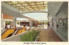 Lenox Square in Atlanta - 1960's. Yes, I remember how it looked back in the 60's.