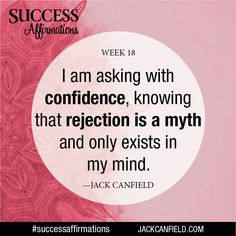 On your way to becoming #successful, you're going to encounter rejection. To overcome #rejection and keep #movingforward, you have to see rejection for what it really is - a myth. The reality is, you lose nothing by asking; all you have is something to potentially gain.