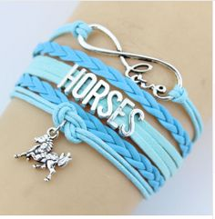 Love horses? Get this premium Horse Bracelet and get back your appetite for life and freedom of expression. You are not a rider until you have fallen off seven times. Length: 16-23 cm (adjustable) Fre