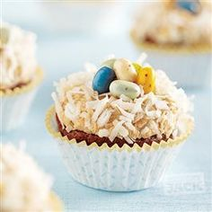 Bird's Nest Cupcakes with Peanut Butter Frosting from Hungry Jack®