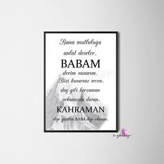 I am pleased to present this article from my shop to present: Baba, gift idea, picture frame, Islamic Decor, Islamic Wall Art, Islamic Quotes, Ramadan, Presents For Her, Business Gifts, Best Dad, Letter Board, Picture Frames