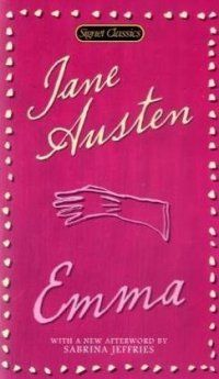 Emma by Jane Austen. Emma is a romantic and self-appointed matchmaker with the best of intentions, but some times her execution is a little off as she learns about love and friendship. Importance to class: considered a classic that offers a good insight to an age-old theme of male-female relationships. Important to me: can engage students with classical lit b/c of its timeless theme of dating and marriage.