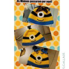 Toucas de Minions em crochet