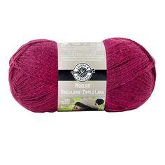 Loops & Thread Yarn, Woolike: Mauve, 85% acrylic, 15% nylon, 678 yds, Super Fine 1