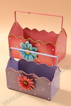 "10""/13.25"" METAL FLOWER PLANTER LAVENDER/PINK SET/2 - GandGwebStore.com Bright Colors, Different Colors, Flower Planters, Metal Flowers, Cute Bunny, Toy Chest, Lavender, Nail Designs, Easter"