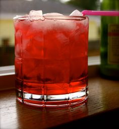 killer kool-aid   2 oz Vodka    1 oz Armaretto    1 oz Peach Schnapps    Cranberry juice    Pour ingrédients into a rocks glass filled with ice, stir, garnish with a cherry (if you like) and enjoy your Kool aid.  Watch out though…I hear it's killer.