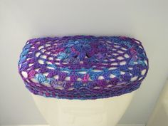 Crochet Toilet Tank Lid Cover or Crochet Toilet Seat Cover - grape fizz (TTL13G or TSC13G) by ytang on Etsy