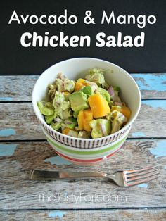 Avocado and Mango Chicken Salad 1 rotisserie chicken, all meat removed ...