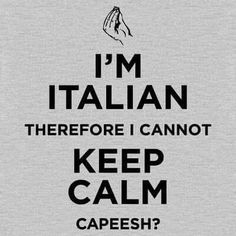 I'm Italian.I can't keep calm Italian Girl Problems, Keep Calm T Shirts, Me Quotes, Funny Quotes, Shirt Quotes, Calm Quotes, Funny Phrases, Random Quotes, Family Quotes