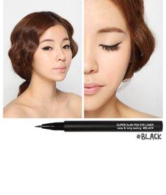 3CE Super Slim Pen Eyeliner http://www.mysune.com/3CE-Super-Slim-Pen-Eye-Liner-p/1125143.00.htm