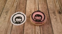 Little Girl Hand Carved Rubber Stamp Zakka Frame by dragonflycurls