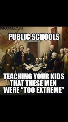 Liberal Extremism. Teach your kids to learn for themselves. Read books outside of school. Question everything. They're turning into ignorant sponges at the hands of the people who want an ignorant society.