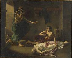 La mort d'Antigone GENEVE-RUMILLY Victorine Angélique  (1799-1849) Les carnets d'Eimelle littérature théâtre voyage: Antigone théâtre et peinture 1