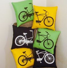 tandem bike pillows, yes please!