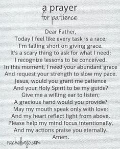 Need more patience? Me too. Let's pray together!