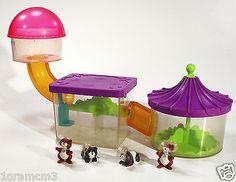 Vintage G1 Littlest Pet Shop Pets On The Move Ride 'n Slide Hamsters 1995