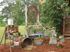 galvanized garden ideas